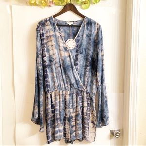 UMGEE | NWT TIE DYED BLUE ROMPER